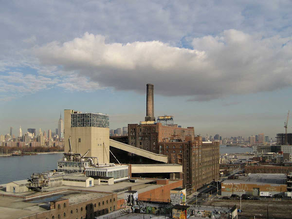 High Contrast Cloud - It looked that dramatic, passing over the Domino Sugar plant, from the Williamsburg Bridge.