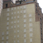 Ghost Windows - One of my favorite `blank` walls before they covered it with a banner ad; next to the Ziegfeld Theater on 54th St.