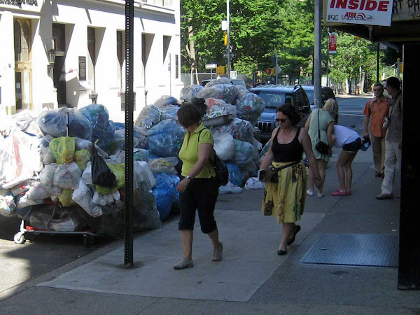 Recyclable Tourist Attraction - On Waverly Place near Washington Square.
