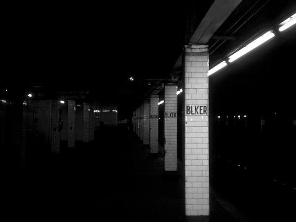 Bleaker and Bleaker - At the Bleecker St. subway station.