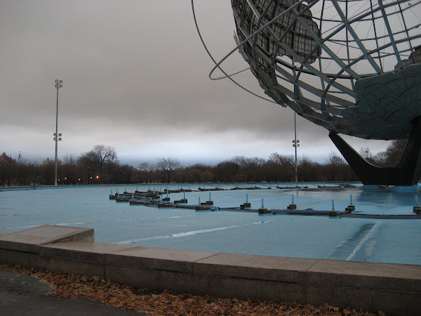See-Through Earth - The UniSphere in Flushing Meadows, Queens.