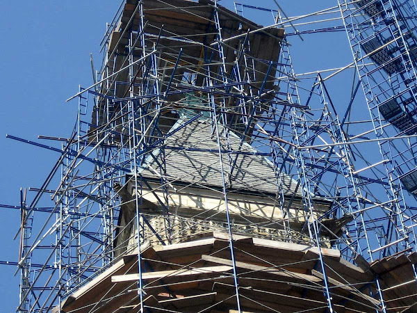 Village Tower Scaffold 2 - Again, the Jefferson Market Courthouse on 6th Ave.