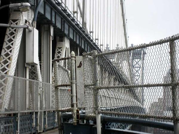 Heavy Metal Manhattan Bridge - Looking toward Brooklyn on the pedestrian walkway of the Manhattan Bridge.