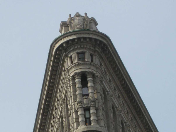 Top of the Flatiron Building - Top of the north end of the Flatiron Building (1903) at 23rd & Broadway.