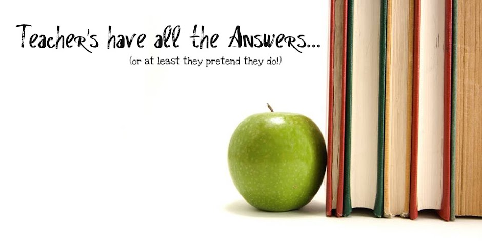 Teachers have all the answers. . . or at least pretend they do!