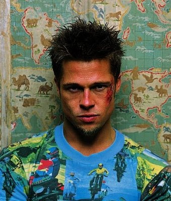 Brad Pitt Ears. rad pitt fight club wallpaper