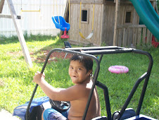 Jordan playing in the back yard.