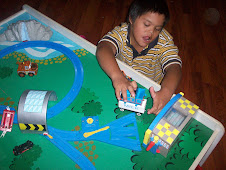Jordan loves Thomas the Train table