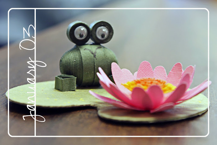 Quilled Frog on Lily Pad