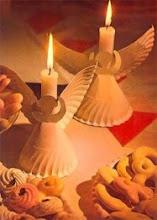 Porta-velas con plato de carton