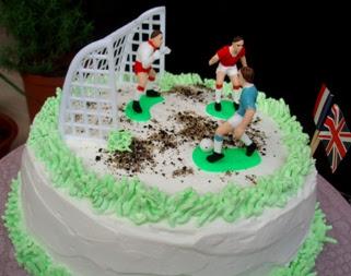 Passion & Living ..: Soccer cake!