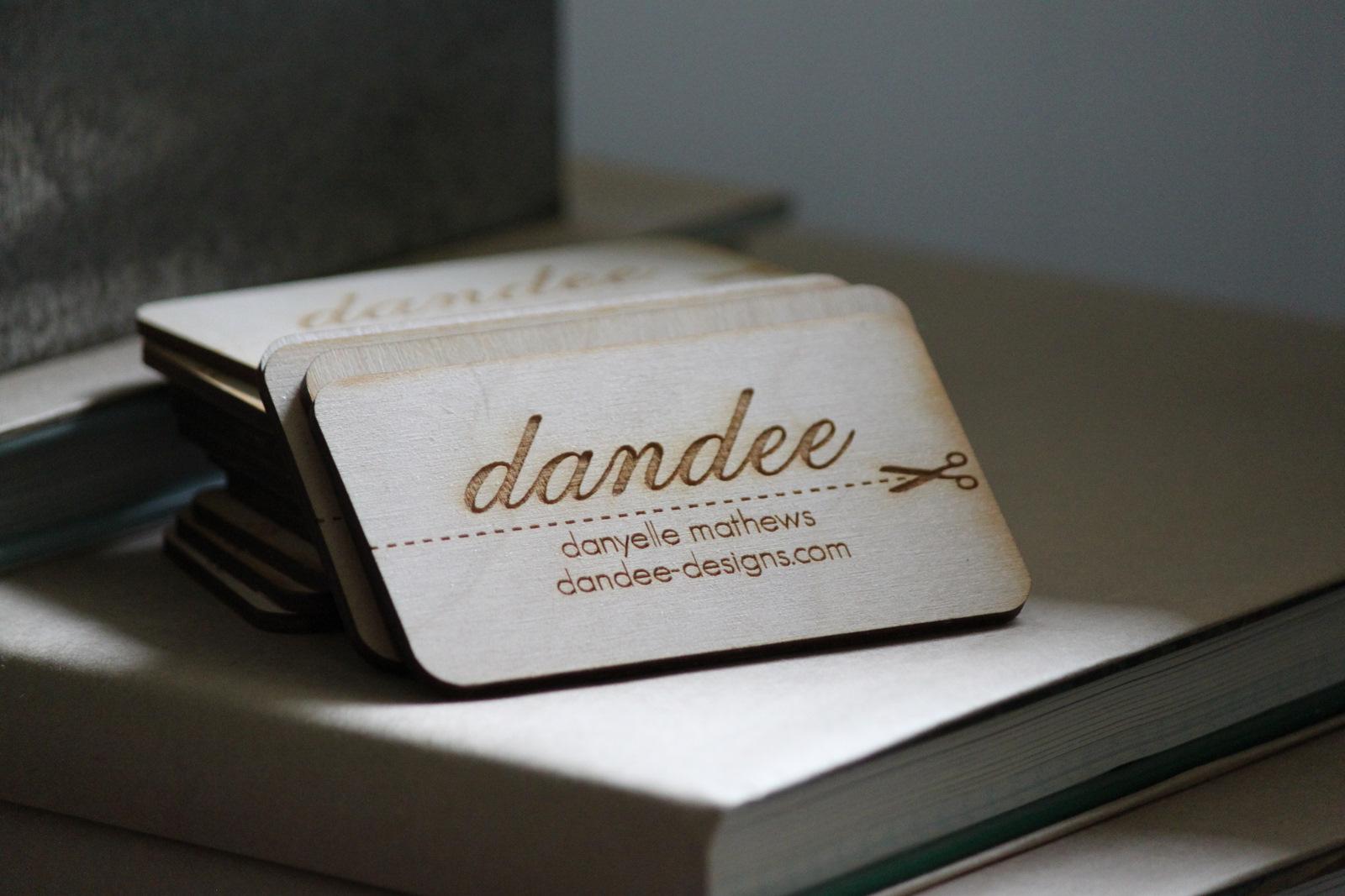 [dandee] Wood Business Cards