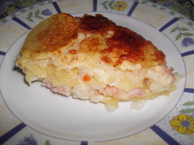 riso con patate al forno