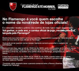 Newsletter do Flamengo divulgando a promoção com a Roxos e Doentes