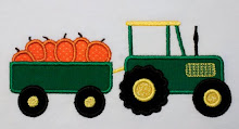 Tractor with Pumpkins