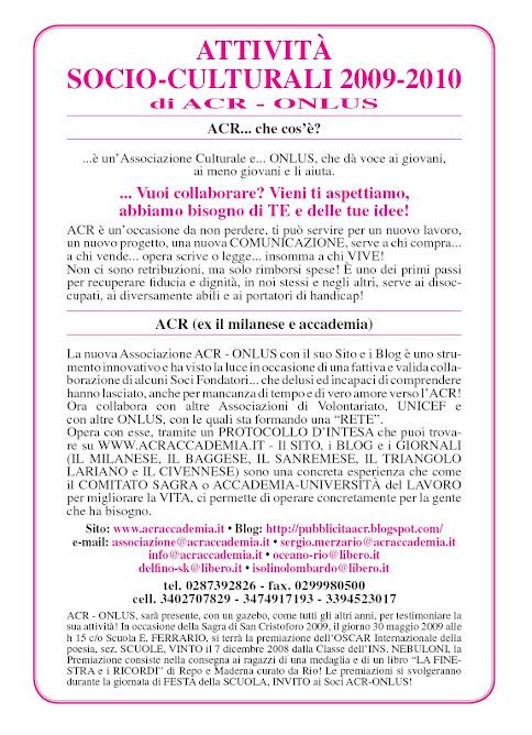 Attività di ACR.. a Milano, in Lombardia e in Europa!