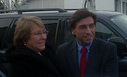 Presidenta Bachelet con Arzola