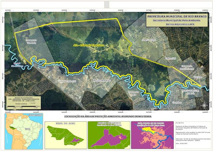 Localização da Área de Proteção Ambiental Raimundo Irineu Serra