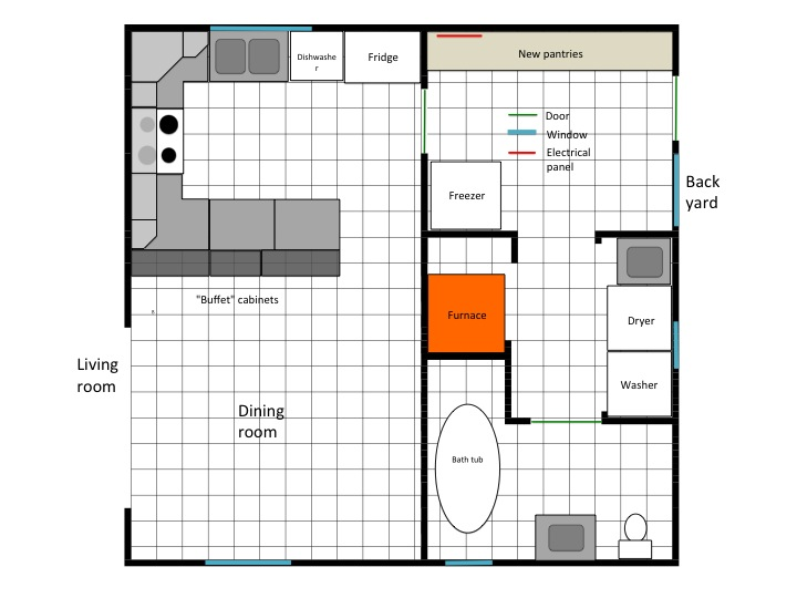 My Old New House Main Floor Plans
