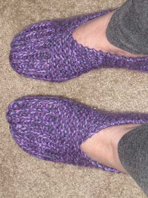 EASY KNITTING SLIPPERS BEGINNERS Free Knitting Projects