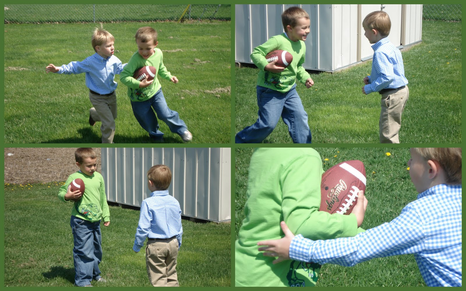 andrew and clayton playing backyard football