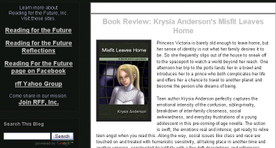 Misfit Leaves Home by Krysia Anderson reviewed by Readers for the Future