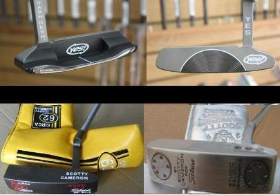 Yes Callie putter / Titleist Circa 62#3 / Titleist Scotty cameron Newport 2