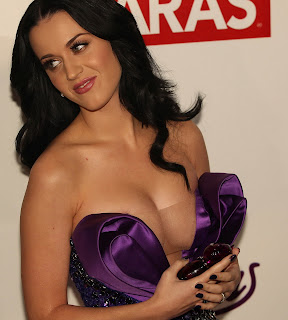 Katy Perry cleavage areola slip cleavage