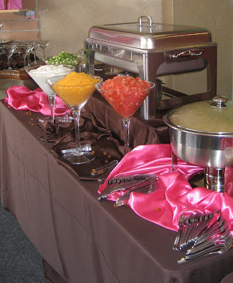 Mashed Potato Bar : Mashed Potatoes, Shrimp Newberg, Chicken Fricassee and