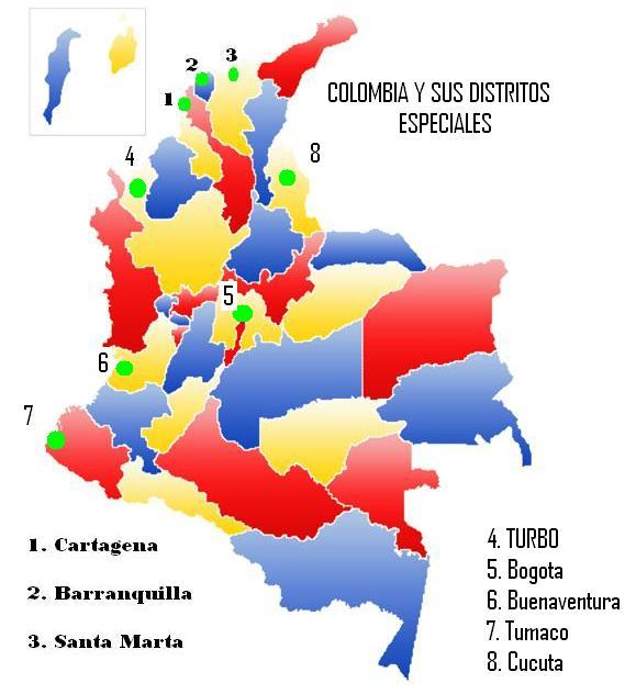 Colombia y sus Distritos Especiales