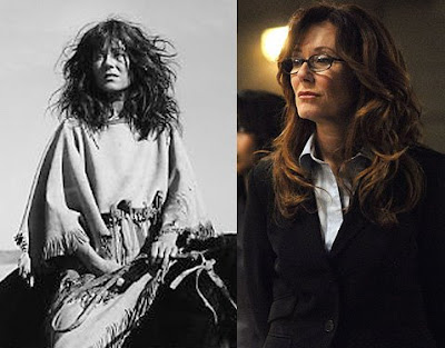 Mary McDonnell is President Laura Roslin and Stands With A Fist from DAnces with Wolves