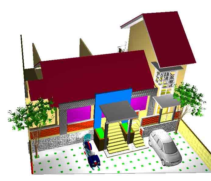Desain Rumah Usaha Dokter Saeful - Wates (lanjutan)