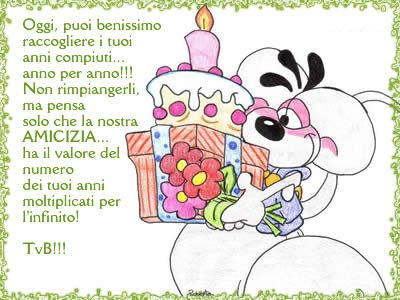 Tanti auguri di buon compleanno ..]
