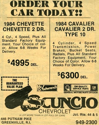 SCUNCIO CHEVROLET Smithfield, RI, Putnam Pike Closed Late 80u0027s Early 90u0027s    Owned By Ed Scuncio One Of The Best Chevrolet Dealers In Rhode Island.