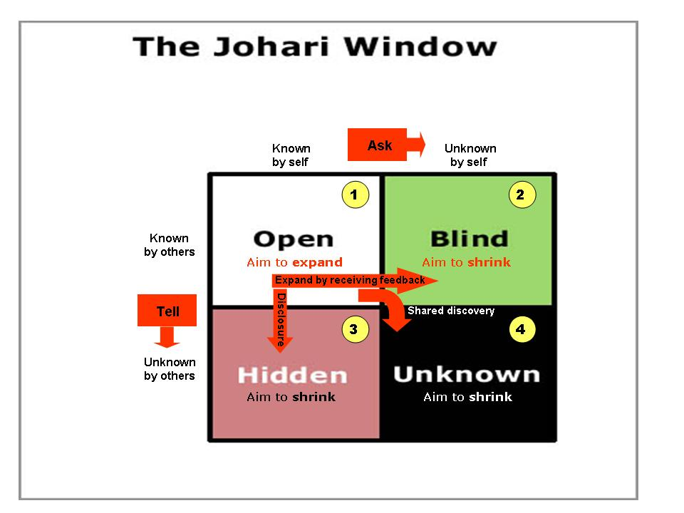 self analysis through swot johari window Developed an in-depth analysis on how self-awareness can johari window and self-awareness, self-reflection nurse going through the process of self.