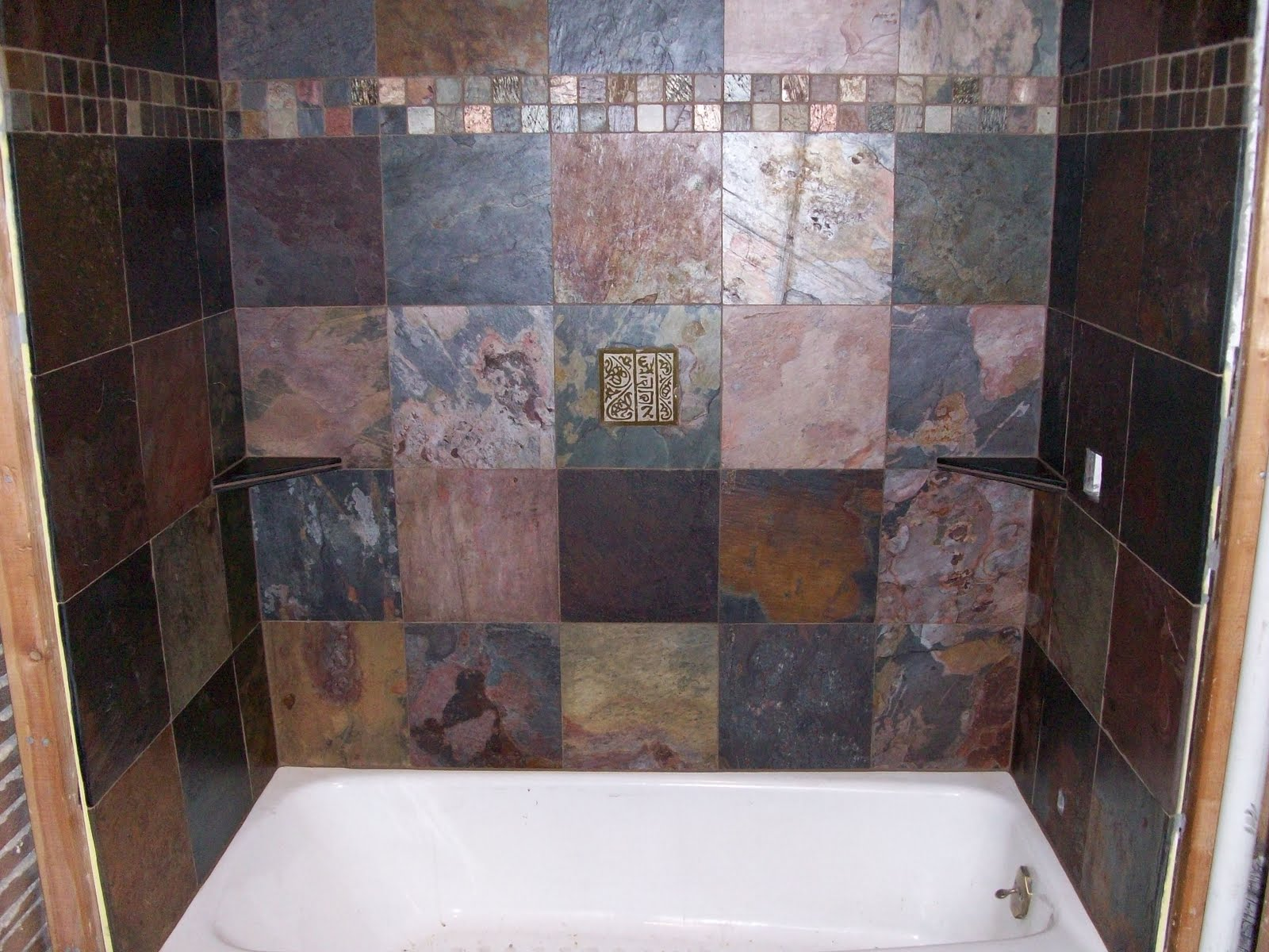 Golden Spiral Tile Shower Installations Continued