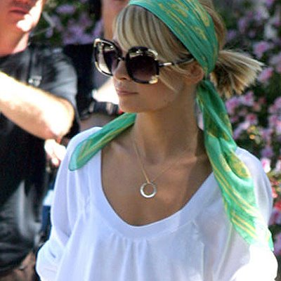 Even sunglasses have not been spared by this trend. Nicole Richie