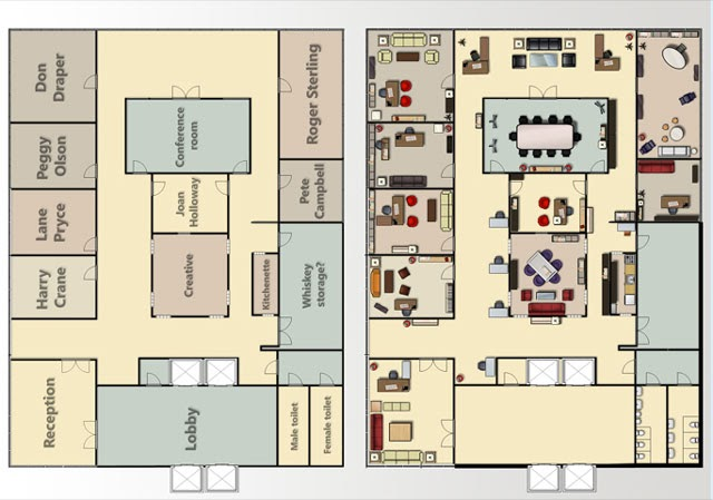 Brandflakesforbreakfast The Floorplans To The Madmen Offices