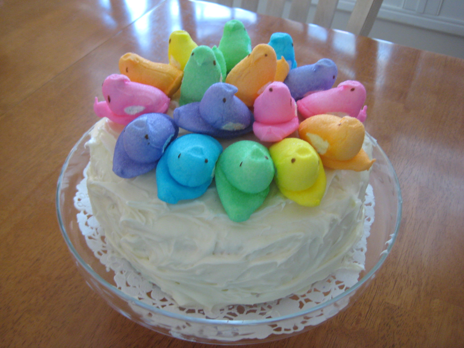 creative party ideas by cheryl peeps easter cake idea
