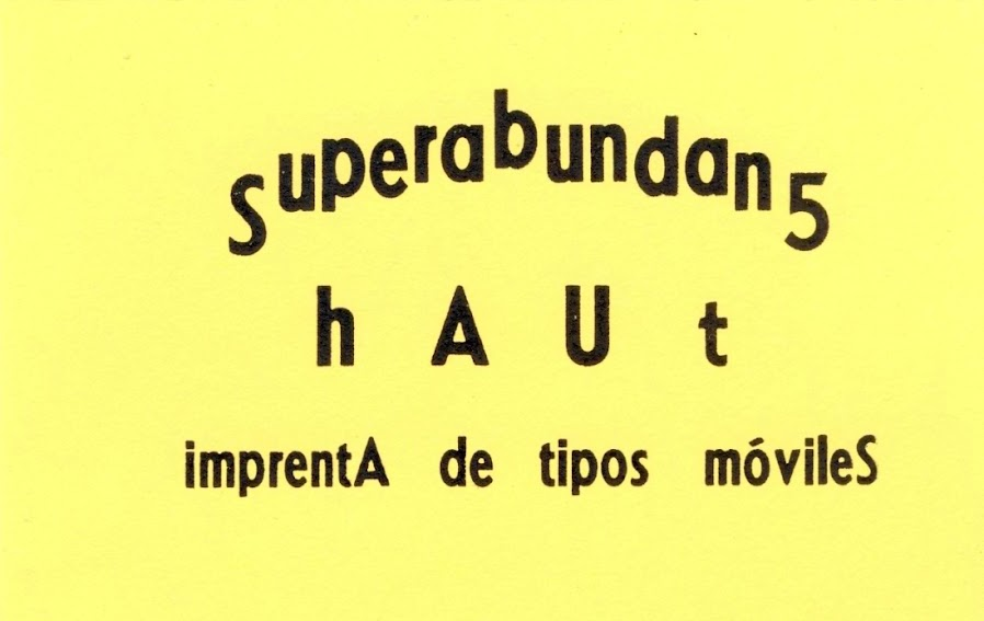 Las impresiones análogas de Superabundans Haut