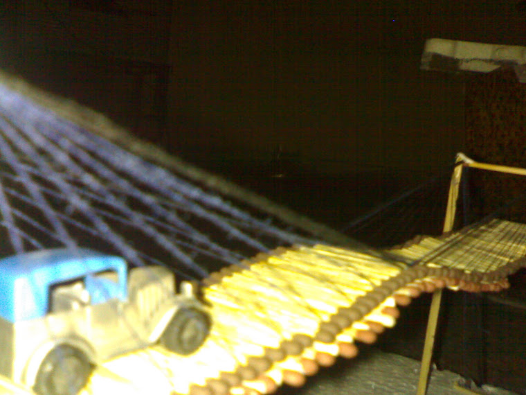 homemade suspension bridge 6
