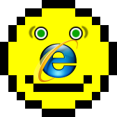 Acid 2 test reference rendering combined with IE8 logo as its nose