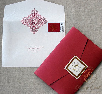 paisley quill jeannine and fal s hindu christian wedding invitation