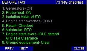 Voice Checklist Gauge para 737NG CKL_737