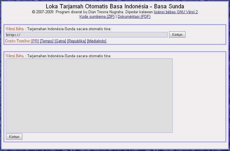 Terjemah Bahasa Indonesia - Bahasa Sunda dengan Tool Gratis