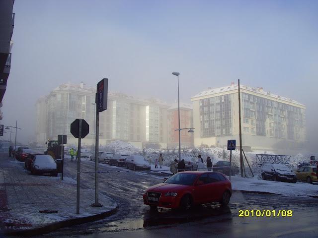 Milladoiro nevado en 2010
