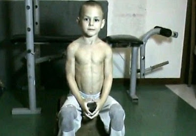 5 year-old with 6 pack