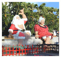 Shaka Santa and Mrs. Claus