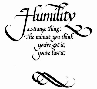 ... job on tackling the issue of humility from a different perspective