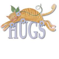 Cat hugs ecg